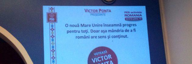 Evenimentul național PES – Victor Ponta, Președinte European.