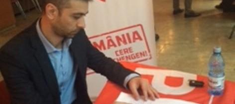 "Gabriel Zetea a semnat petiția ""România cere Schengen"""