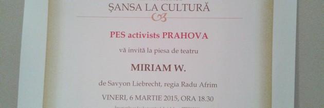 """Șansa la cultură""- PES Activists Prahova"