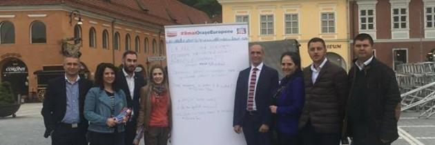 Campania de ziua Europei ajunge în Brașov
