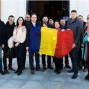Echipa PES activists Romania la Consiliul Party of European Socialists de la Lisabona.