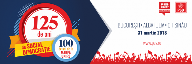 PES activists România sărbătorește 125 de ani de social-democrație la București, Alba Iulia și Chișinău.