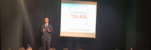 Am lansat seria de conferințe #EuropeanTalks by PES activists Romania.