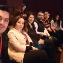 O parte din delegația PES activists România la CongresulParty of European Socialistsde la Madrid.