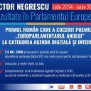 """Victor Negrescu """"Sunt onorat de responsabilitatea care mi-a fost încredințată de a reprezenta colegii din Partidul Social Democrat în alegerile pentru Parlamentul European."""""""