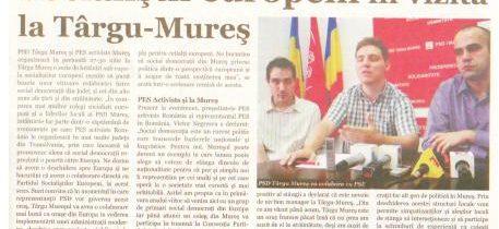 Mures: Targu Mures vizitat de socialistii europeni